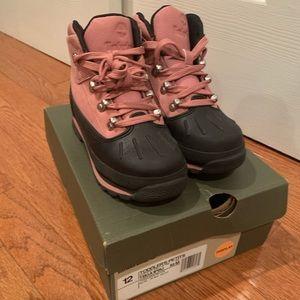 Timberlands toddler euro hiker pink